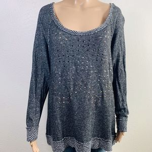 Maurices Gray Pullover Sweater 1X